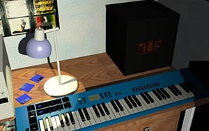 Yamaha CS1-x Synth on Desk